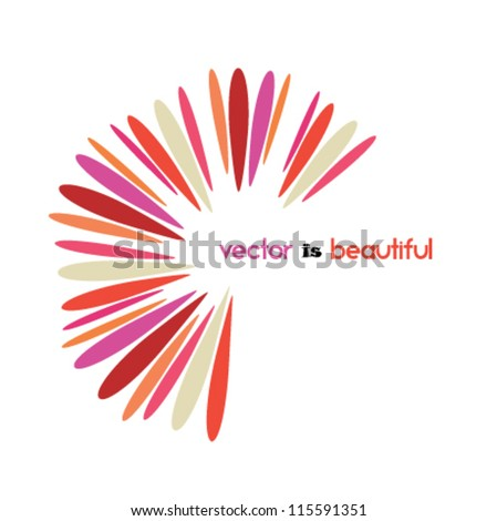 beautiful design element, abstract flower icon, logo