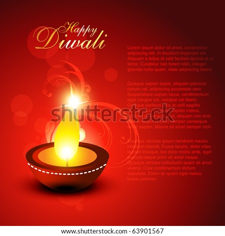 beautiful diwali vector background - stock vector