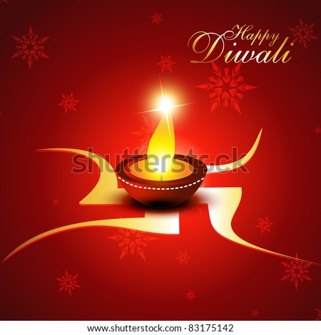 beautiful diwali vector background