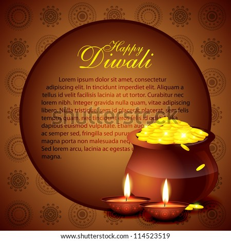 beautiful diwali vector background with space for your text