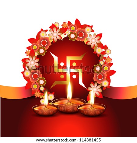 beautiful diwali vector background with space for your text - stock vector