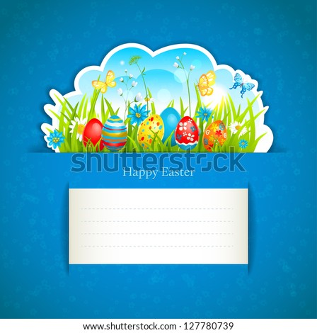 Beautiful  Easter background with space for text
