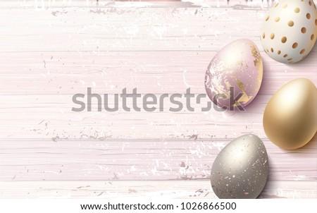 beautiful easter golden eggs