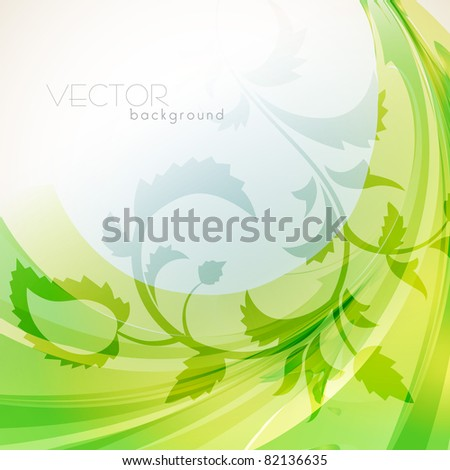 beautiful eco style vector green background