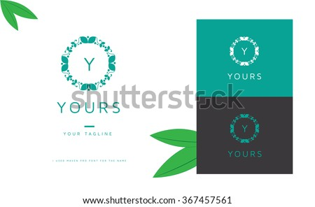 beautiful elegant vector  logo