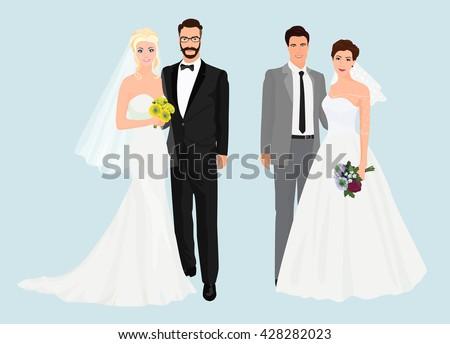 beautiful elegant wedding love