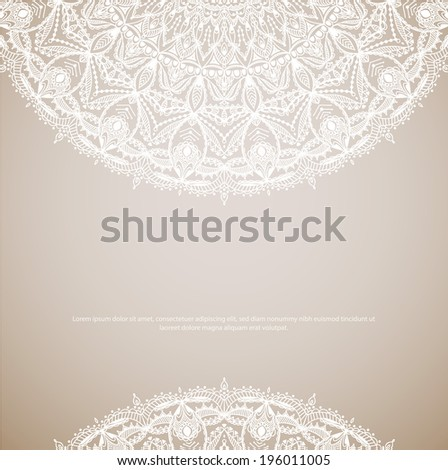 Beautiful ethnic floral ornament. Vector illustration. Lace design
