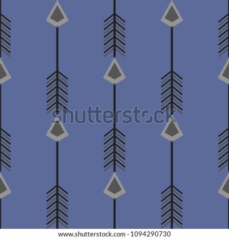 Beautiful ethnic pattern. It depicts a stylized arrow. Vertical pattern.       #1094290730