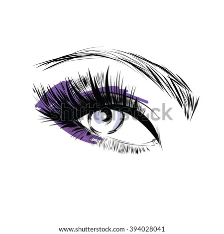 beautiful eye make up icon