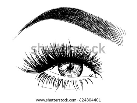 beautiful eye with big lashes