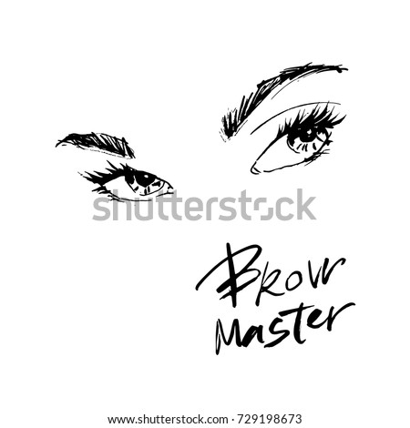 beautiful eyes and eyebrows for