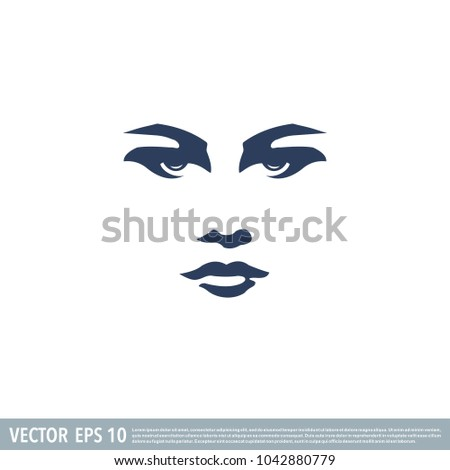 beautiful face of a woman