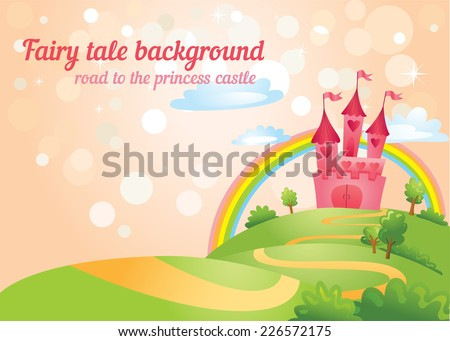 beautiful fairy tale background