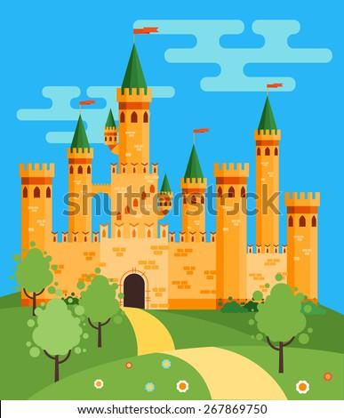 beautiful fairytale castle