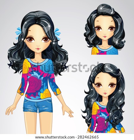 beautiful fashion brunette girl