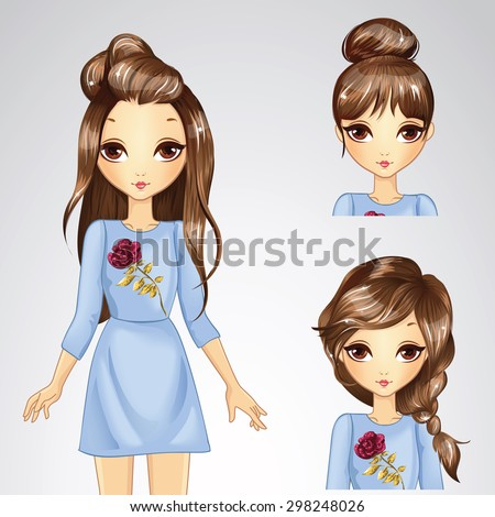 beautiful fashion chestnut hair