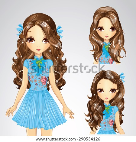 beautiful fashion girl with