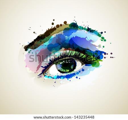 beautiful fashion woman eye