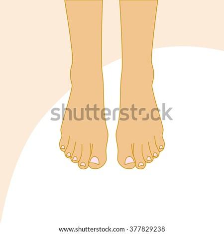 beautiful female feet body