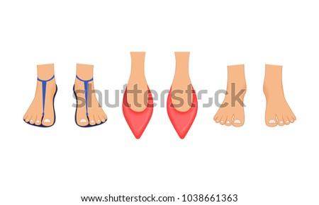 beautiful female legs in red