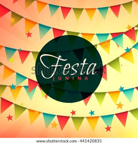 beautiful festa junina backgorund brazilian festival - Shutterstock ID 441420835