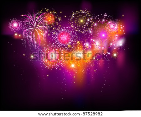 Beautiful festive fireworks