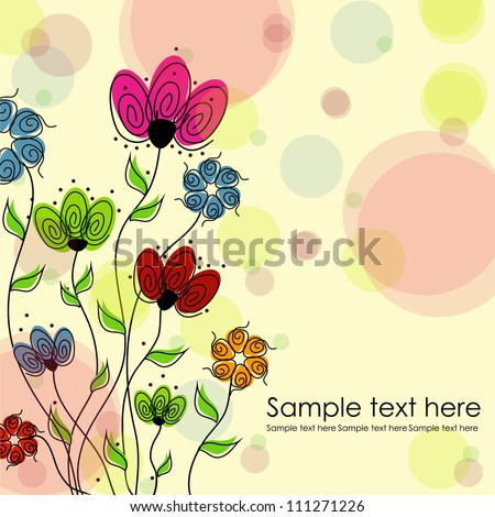 Beautiful floral background. Multicolored flowers on a white background