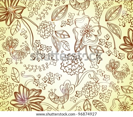 Beautiful floral background,vector illustration