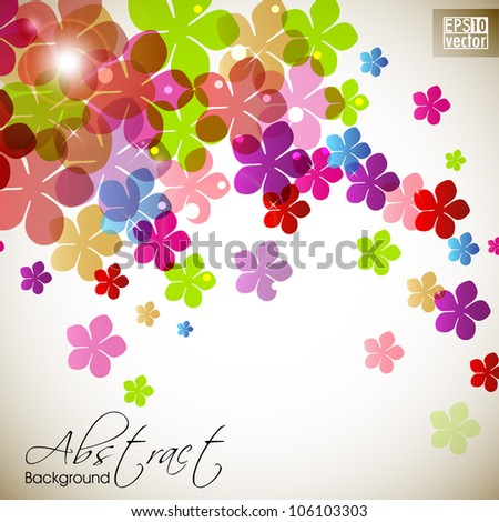Beautiful floral background with space for your message. EPS 10.