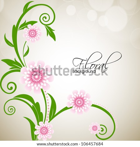 Beautiful floral background with space for your message EPS 10.