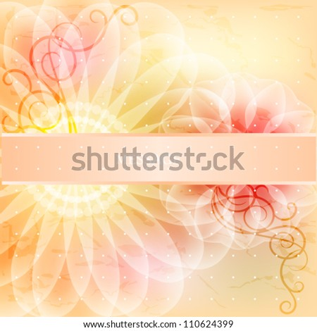 Beautiful floral card with ribbon