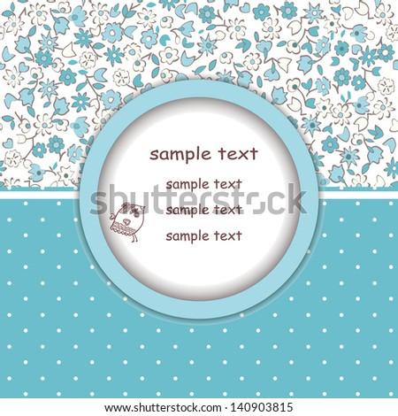 Beautiful floral invitation card eps10