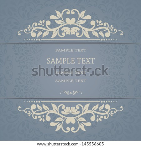 Beautiful floral invitation card eps10