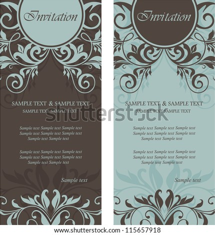 Beautiful floral invitation cards