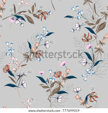 beautiful floral pattern in the