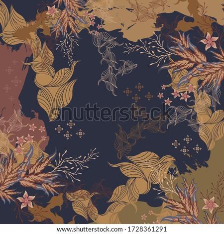 beautiful floral scarf design 12