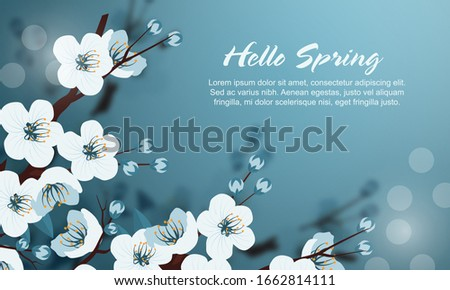beautiful floral spring