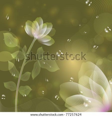 beautiful flower green