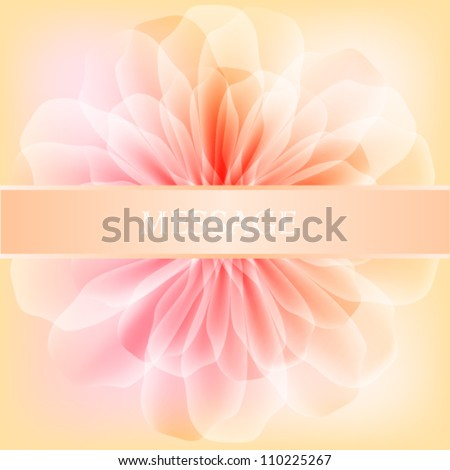 Beautiful flower with satin ribbon