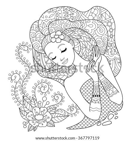 beautiful flower woman design