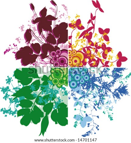 Beautiful flowers for your design Corners VECTOR (See Jpeg Also In My Portfolio)