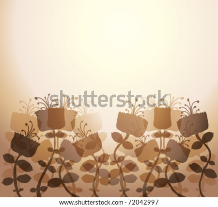Beautiful flowers. Graphic stylized flowers vector background. Eps10.