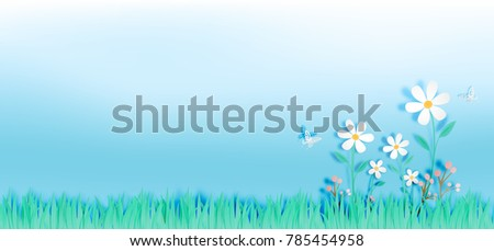 beautiful flowers with grass