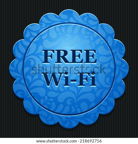 Beautiful Free WiFi web icon