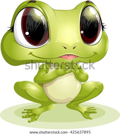 Stock Photo beautiful frog with big eyes