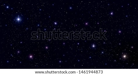 Beautiful galaxy background. Stardust in deep universe and bright shining stars in universe. Vector illustration.