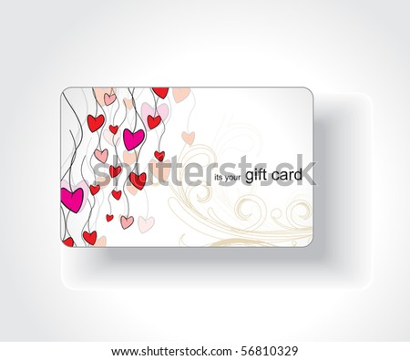 Beautiful gift card, vector illustration.