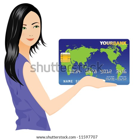 Beautiful Girl and Credit Card