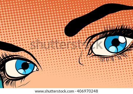 beautiful girl eye raster