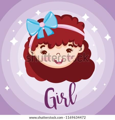 Beautiful girl face #1169634472